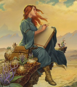 In a gorgeous piece of bonus art found on the inside cover of the Words of Radiance hardcover, Shallan is shown sketching the unearthly wildlife of Roshar.