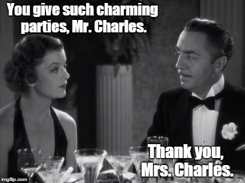 Thin Man Charming Parties