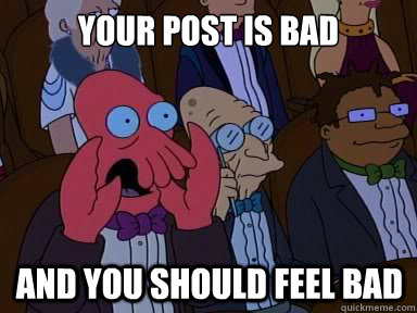 Post is bad