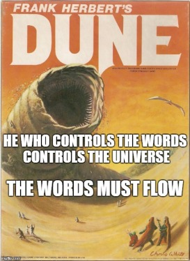 Dune words must flow